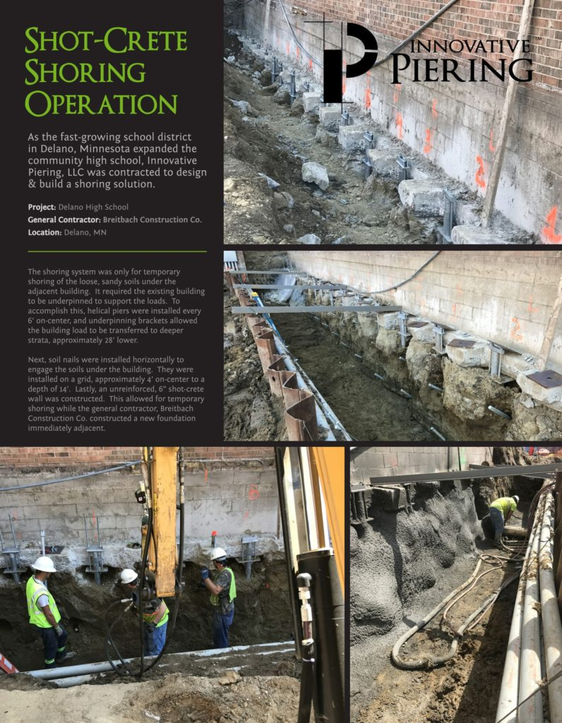 Deep Foundation Repair Project - Delano, Minnesota - Innovative Piering